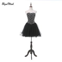 3b20124cd4c New Fashion A Line Sweetheart Black Tulle Short Homecoming Dresses 2018 Sexy  Backless Beading Mini Length Cocktail Dress-in Cocktail Dresses from  Weddings ...