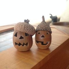Funny pictures about Jack-O-Acorns. Oh, and cool pics about Jack-O-Acorns. Also, Jack-O-Acorns photos. Nature Crafts, Fall Crafts, Diy And Crafts, Crafts For Kids, Arts And Crafts, Holidays Halloween, Halloween Crafts, Halloween Decorations, Acorn Crafts