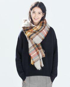 ZARA - scarf soft bufanda cuadros