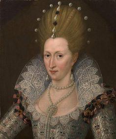 ca. 1605 Anne of Denmark by John de Critz (auctioned) | Grand Ladies | gogm