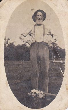 The Old Farmer Vintage Photograph