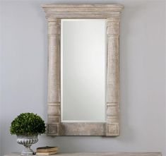 Uttermost Castelvetere Carved Wood Mirror (13918)