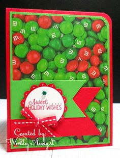 Merry Monday Christmas Challenge: MM # 169 {Lt. Green, Dk Green and Red!}
