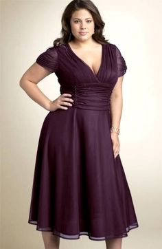 Cocktail Plus Size Bridesmaid Dresses with sleeves
