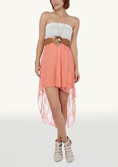 Belted Ponte Tube Lace High Low Dress http://www.rue21.com/store/jump/product/Belted-Ponte-Tube-Lace-High-Low-Dress/0101-000786-0005190