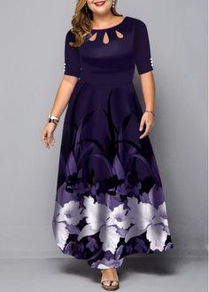 Plus Size Large Floral Print Maxi Dress Plus Size Vintage Dresses, Plus Size Maxi Dresses, Dresses Uk, Dresses Online, Fashion Dresses, Short Sleeve Dresses, Trendy Dresses, Party Dresses, Casual Dresses