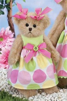 Bella Buttons - 10 Inch Spring 2012 Collectible Teddy Bear