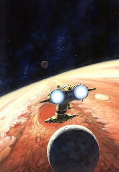 Peter Elson - The Moons of Jupiter by myriac, via Flickr | Click through for a larger image