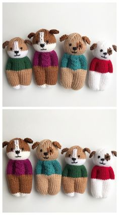 Knit One-Piece Izzy Buddy Dolls Toy Knitting Patterns - Knitting Pattern Knitted Dolls Free, Knitted Doll Patterns, Animal Knitting Patterns, Doll Patterns Free, Christmas Knitting Patterns, Clothes Patterns, Crochet Bear, Crochet Toys, Crochet Birds