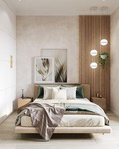 Relaxing Bedroom Color – Home Bedroom Modern Bedroom Design, Master Bedroom Design, Home Decor Bedroom, Modern Interior Design, Home Design, Natural Modern Interior, Contemporary Bedroom, Modern Luxury Bedroom, Interior Design For Bedroom