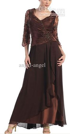 Wholesale angel-angel's 2013 promparty deep v-neck satin and tulle nail bead mother of the Bride wedding dress, Free shipping, $140.0-151.2/Piece | DHgate