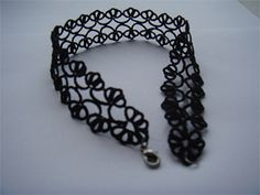 Tatted choker, design by Sulu (inspired by Therese de Dillmont)