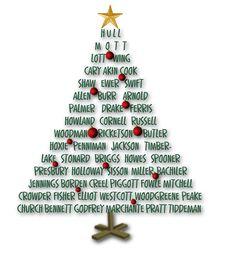 Surname Christmas Tree - Ancestors Live Here: Saturday Night Genealogy Fun