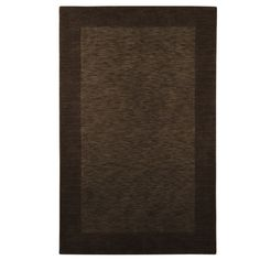 Heather Border Rugs - Brown...I need this rug for my basement...it would match perfectly!