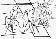 Diy And Crafts, Crafts For Kids, Arts And Crafts, Spring Activities, Activities For Kids, Bambi, Bird Theme, Spring Crafts, Coloring Pages For Kids