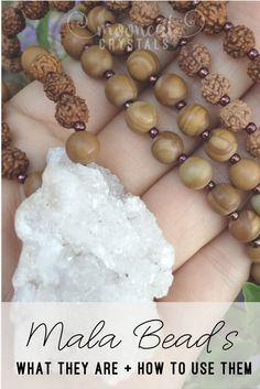 Mala beads (also called malas, japa malas, and meditation beads) are popular in the yoga community. Read on to learn more about malas and how they are used!