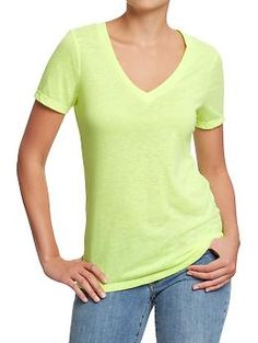 Women's Vintage-Style V-Neck Tees | Old Navy