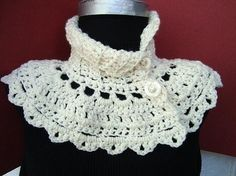 INSTANT DOWNLOAD Crochet Pattern PDF 91 Cream Capelet by ashton11