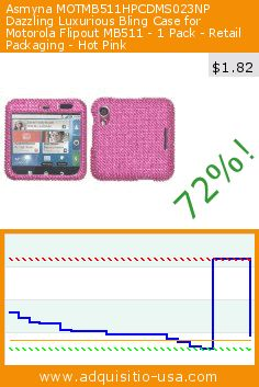 Asmyna MOTMB511HPCDMS023NP Dazzling Luxurious Bling Case for Motorola Flipout MB511 - 1 Pack - Retail Packaging - Hot Pink (Wireless Phone Accessory). Drop 72%! Current price $1.82, the previous price was $6.49. https://www.adquisitio-usa.com/asmyna/motmb511hpcdms023np