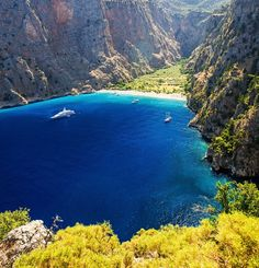 Know more about natural reserve Butterfly Valley Fethiye Turkey - one of the most attractive places and beach in the surroundings of Oludeniz Fethiye Turkey. Beautiful Places In The World, Wonderful Places, Places To Travel, Places To See, Travel Around The World, Around The Worlds, Turkey Places, Visit Turkey, Hidden Places