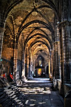 Cloister of Santa Eulalia Cathedral, Barcelona, Spain