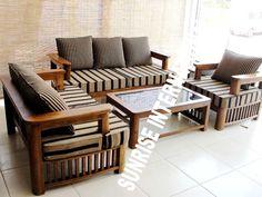 3 2 Wooden Sofa Set Designer Hard Wood Ads Interiour Design