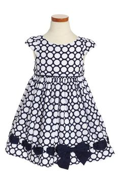 Biscotti 'Riviera' Dot Dress (Toddler Girls, Little Girls & Big Girls)