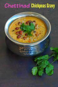 Chettinad chickpeas gravy Kurma Recipe, Chickpeas, Gravy, Cheeseburger Chowder, Side Dishes, Beans, Soup, Ethnic Recipes, Kitchens