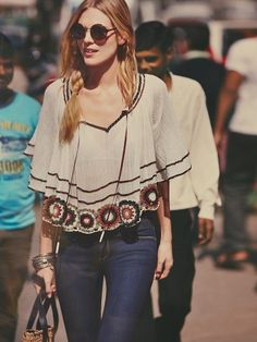 Free People The Way She Moves Top Hippie Boho, Bohemian Style, Hippie Style, Unique Fashion, Fashion 101, Boho Fashion, Autumn Fashion, Spring Fashion, Casual Fall Outfits