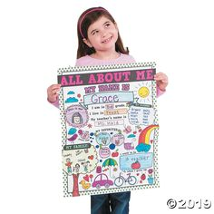 """Color Your Own """"All About Me"""" Doodle Posters 