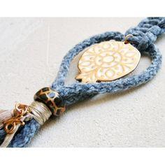 gift key chain charm bag doreen beads key ring good lucky