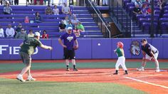 On Tuesday, May 6, the Challenger Baseball division of Bridgewater Little League took to a change of their usual Oakdale Park scenery for the annual game in Veterans Memorial Park, marking the 14th consecutive year of JMU Baseball and Challenger Baseball's partnership.