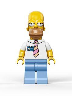 Les photos officielles des figurines Lego des Simpsons #homer #jouets #legos