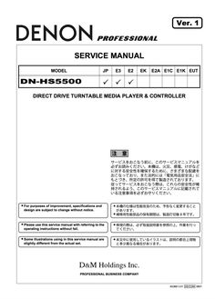 Denon DN-HS5500 Service Manual Complete Direct Drive Turntable, Procedural Writing, Block Diagram, Electrical Wiring Diagram, Japan Model, Audio Player, Manual, Pdf, Windows