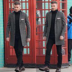 """🎥David filmed a new commercial in - Katrins Depozz David Beckham Tattoos, David Beckham Haircut, David Beckham Suit, David Beckham Style, David Beckham Fashion, Smart Casual Menswear, Men Casual, Outfit Grid, Men Dress"