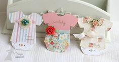 Card by Melissa Sauls. Absolutely love the onesies cards  =)