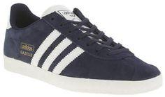 Adidas womens  adidas  navy & white gazelle og suede trainers
