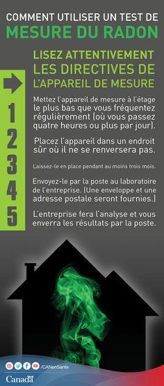 Renseignez-vous sur le radon et sur les raisons pour lesquelles il faut le mesurer ici :  http://www.canadiensensante.gc.ca/environment-environnement/home-maison/radon-fra.php?_ga=1.131095307.525080773.1393857104&utm_source=pinterest_hcdns&utm_medium=social&utm_content=Apr28_radon_FR&utm_campaign=social_media_14