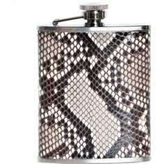 Elisabeth Weinstock Painted Anaconda Dublin Flask ($385) ❤ liked on Polyvore featuring home, kitchen & dining, bar tools, stainless steel hip flask, stainless flask, elisabeth weinstock and stainless steel flask