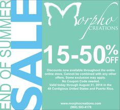 Save up to 50% on selected items throughout the online-store. Please like and share. Happy Shopping!!