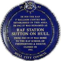 RAF Sutton On Hull  This Station was originally designated 17 Balloon Centre and opened as such on Wednesday 28th June 1939. It was built ov...