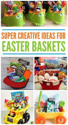 25 alternatives to the traditional easter baskets could also use 11 creative easter basket ideas negle Images