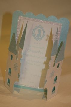 Frozen Castle Invitations Birthday Card Princess by PoshMyParty, $6.50