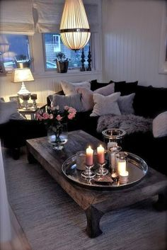 lovely, cozy living room decor x