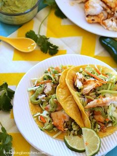 Summer is here! Fire up the grill for these awesome Grilled Fish Tacos from Faithfully Gluten Free (gluten free, dairy free, nut free, egg free)