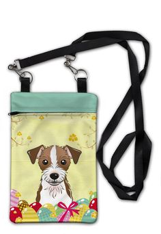 Jack Russell Terrier Easter Egg Hunt Crossbody Bag Purse BB1884OBDY