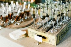 Prosecco - Rustic Country Club Rehearsal Dinner by Ashley Rhodes Events + Ashley Seawell (Photography) - via snippetandink