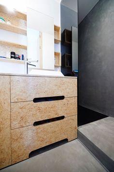 Créé fin 2009, l'atelier d'architecture AUXAU, basé à Bruxelles, se veut prioritairement un lieu de recherches et d'études au service de l'homme et de son Sdb escalier en OSB
