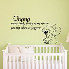 [Visit to Buy] Ohana Means Family Means Nobody Get Left Behind or Forgotten Lilo and Stitch Wall Stickers Vinyl Baby Nursery Wall Decals Lilo And Stitch Quotes, Lilo Und Stitch, Family Car Stickers, Kids Stickers, Nursery Wall Stickers, Wall Decal Sticker, Ohana Means Family, Disney Nursery, Family Wall