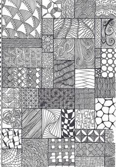 zentangle pattern sheet by *carolion*, via Flickr
